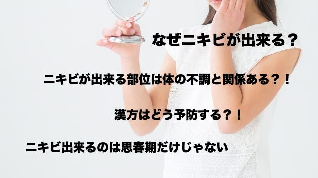 漢方-ニキビ-養生-予防-改善